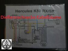 Hercules K50 RX/SX Kabelbaum Kabelsatz Nachbau incl. farbigem Schaltplan