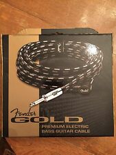 FENDER PREMIUM GOLD 20FT ELECTRIC Bass GUITAR CABLE 099-0720-001 NEW!!