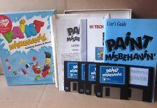 Paint Misbehavin' vtg computer program 1993 art Painting & Games floppy disks