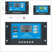 10A PWM Dual USB Auto Solar Laderegler Solarregler Controller Regulator 12/24V
