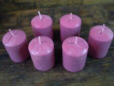Set of 6 scented votive candles Rose fragrance  pillar candles