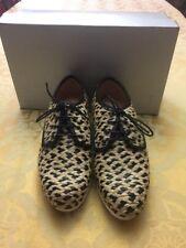 Robert Clergerie NEW Beige Azor Size 8.5M Lace Oxfords Shoes $424  SALE