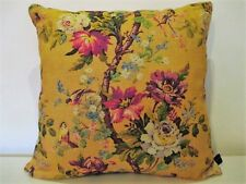 Liberty Lady Kristina Floral linen & Gold Velvet Fabric Cushion Cover  large