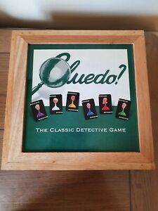 "Parker Brothers ""CLUEDO"" in Wooden Box ~ Nostalgia Games Series Pre Owned"