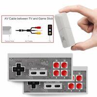 8 Bit Built-in 600 Classic Retro Games Video TV Console Mini Wireless Controller