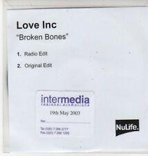 (BQ891) Love Inc, Broken Bones - 2003 DJ CD