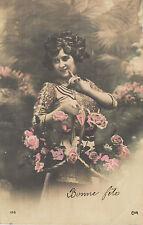 Carte postale fantaisie ancienne carte bonne  fête   No 6