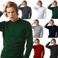 MAGLIA MANICHE LUNGHE UOMO COTONE B&C EXACT 150 T Shirt Maglietta Manica Lunga