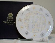 ROYAL WORCESTER FINE BONE CHINA  CHEESE TRAY WITH SCULPTED SLICER    CELEBRATION