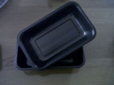 100 x Large Rectangle Black Ovenable/Microwavable Dishes