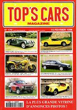 TOP'S CARS MAGAZINE.1996.MORGAN 1969. CORRADO 91. MEHARI 71. 404 INJECTION. A110