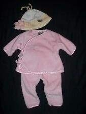 Bunnies by The Bay Baby Girls 0-3M Pink Clothes Outfit Hat Lot 0 3 Months Easter