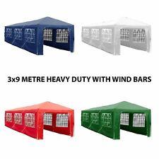3x9m Sides Marquee Gazebo Tent Garden Party Waterproof Canopy Shelter Windbars