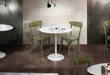 Table Round Fixed, Various Sizes, Base Metal Plan MDF
