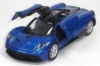 NEU: Pagani Huayra Supersportwagen Sammlermodell ca. 1:37 dunkelblau WELLY 轰动