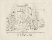 1805 Raffaello incisione in acciaio Psichè da Venere inginocchiata