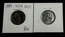 1999 25C October Canada 25 Cents