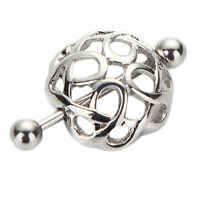 Vogue Jewelry Surgical Steel Nest Nipple Shields Bar Navel Ring Body Piercing3LL