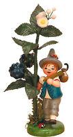 Miniatur Herbstkind mit Brombeere - Hubrig Volkskunst Erzgebirge 304h0005