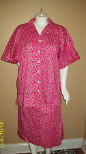 "3X Home Made Pink Animal Print Skirt & Top Bust 58"" Length 30"""