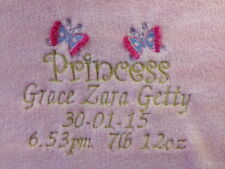 Unbranded Girls' Personalised Cot Nursery Blankets & Throws