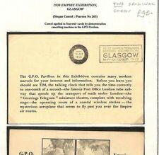 AG165 GB Cover 1938 GPO PAVILION *Empire Exhibition*Machine SLOGAN Pair Cards{2}
