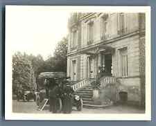 Amfreville, panne de voiture Vintage silver print. Normandie Tirage argentique