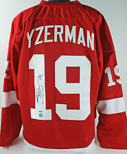 Red Wings Steve Yzerman Authentic Signed Red Jersey Yzerman Holo & PSA/DNA