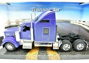 Model Truck Lorry WELLY Kenworth W900 Scale 1:3 2 diecast vehicles