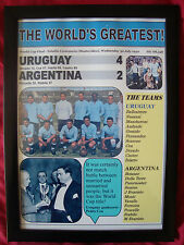 Uruguay 4 Argentina 2 - 1930 World Cup Final - framed print