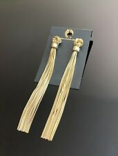 House Of Harlow gold tone long Tassel earrings
