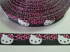 "5 Yards 7/8"" Hello Kitty Grosgrain Ribbon Hair Bow Supply."