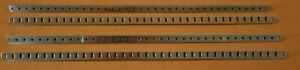 """4 Excellent MECCANO Plated 18 1/2"""" Angle Girders #7a!"""