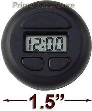 1 Black Round Clock Digital Display Car-RV-Truck-Boat-Office Interior Dash Mount