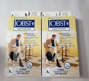 JOBST Support Wear For Men Mild Compression Knee High Socks 8-15 mmHg - 2 Pack
