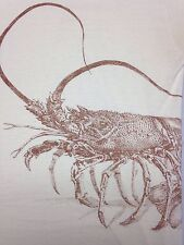 Vintage Marco Island Florida Large Off White T-Shirt Crab Ocean Beach