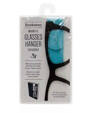 BOOKAROO MAGNETIC GLASSES HANGER FOR BOOKS TURQUOISE FAUX LEATHER NEW