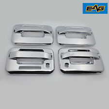 Chrome ABS 4 Door Handle W/ Keypad&PSG Keyhole Cover Bezels For 04-14 Ford F-150