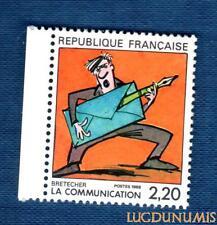 N°2509 - TIMBRE NEUF Brétécher France 1988
