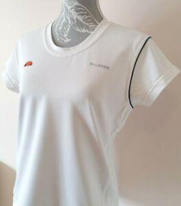 Vtg 00's Ellesse ADV Women's UK 16 VERENA White Short Sleeve Tennis T-Shirt Top