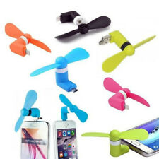 MINI VENTILATORE PORTATILE USB MICROUSB PER PC SMARTPHONE IPHONE SAMSUNG TABLET