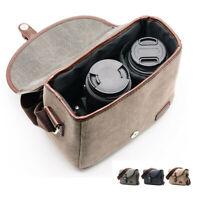 Canvas Shoulder Messenger Camera Bag For Canon Nikon Sony DSLR Digital Pentax