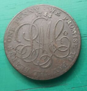 1788 penny Anglesey parys mines copper token #603