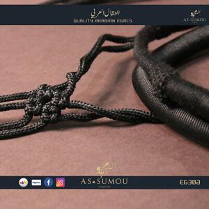 Authentic Black Qatari Egal Igal Agal with Tassels Mens Head Ring Dress EG303A