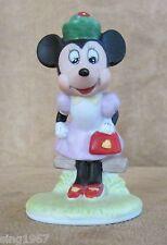 """Minnie Mouse 1988 The Disney Collection Figurine mini 3"""" vintage walt porcelain"""
