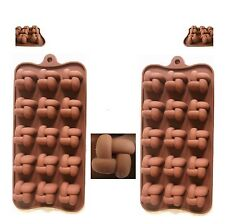 2x Pralinenform Asia Blume Silikon Back Schokoladen Eis Seifen Kerzen Form Set