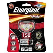 Energizer Vision HD LED Headlight Hands Free Headtorch 150 Lumens Headlamp