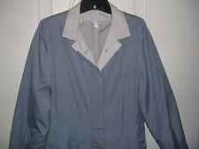 Women's Phillip Courtney Gray Lined Cotton Blend Full-Length Raincoat (Size 9)