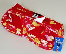 NWT Disney Mickey Mouse Tissue Box Cover Japanese Red Fabric Soft Japan NWT