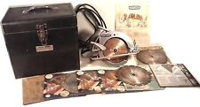 1960'S ERA Sears Craftsman Circular Saw METAL CASE 11 BLADES MANUAL WARRANTY CAR